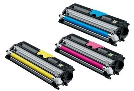 Náplně do tiskárny Konica Minolta MC 1600W, sada originálních tonerů pro Konica Minolta modrá, červená, žlutá