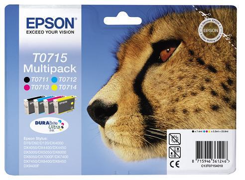 Náplně do tiskárny Epson Stylus SX405Wifi, sada černá, modrá, červená, žlutá