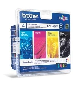 Náplně do tiskárny Brother MFC-5895CW, sada cartridge černá, modrá, červená, žlutá