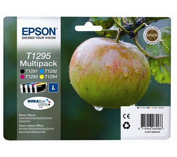Náplně do tiskárny Epson Stylus SX425W, sada černá, modrá, červená, žlutá