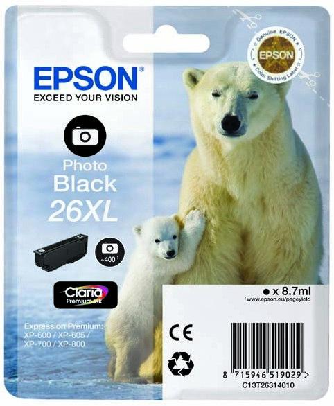 Náplně do tiskárny Epson Expression Premium XP-600 černá foto