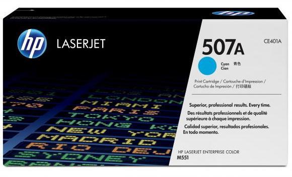 Náplně do tiskárny HP LaserJet Enterprise 500 Color M551 modrá