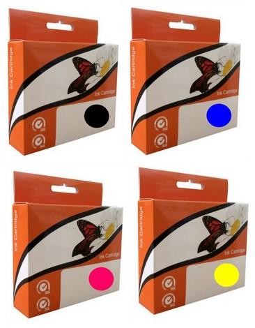 Náplně do tiskárny HP Photosmart Premium Fax C410b, náhradní sada cartridge XL pro HP černá, modrá, červená, žlutá