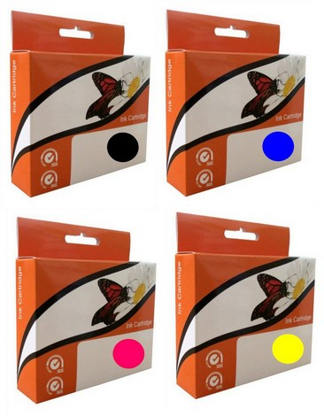 Náplně do tiskárny Epson Stylus DX4000, náhradní sada černá, modrá, červená, žlutá