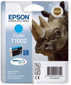 Cartridge Epson T1002 modrá